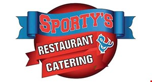 Product image for Sporty's Restaurant and Catering $3 OFF any order of $15 or more. Not Valid On Delivery.