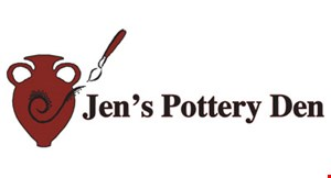 Product image for Jen's Pottery Den $5 OFF any purchase of $20 or more.