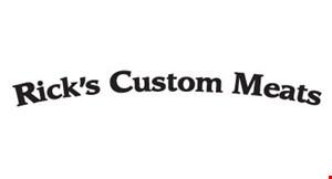 RICK'S CUSTOM MEATS logo