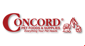 Product image for Concord Pet Foods & Supplies $10 OFF any purchase of $75 or more.