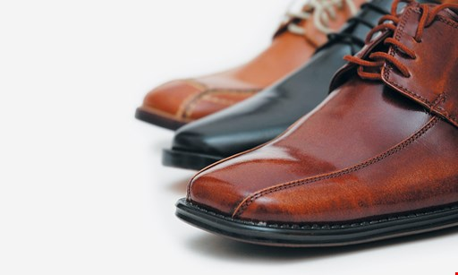 Product image for Shoe Specialist $4 Off your 2nd pair of men's soles & heel.