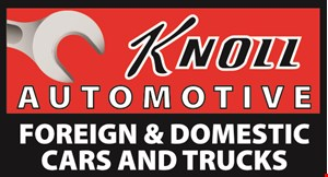 Product image for Knoll Automotive Services $59.95 state safety & emission inspection