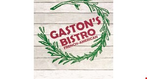 Product image for Gaston's Bistro $10 off any purchase