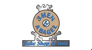 3 MEN & A BAGEL logo
