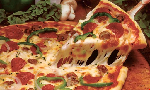 Product image for Abruzzi Pizza $9.95 1 large cheese pizza & your choice of 1 large order of french fries or 2-liter soda