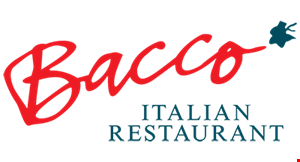 Product image for BACCO RESTAURANT 10% off any dinner