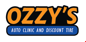 OZZY'S AUTO CLINIC AND DISCOUNT TIRE logo