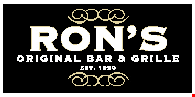 Product image for Ron's Original Bar & Grille 10% OFF GIFT CARDS !