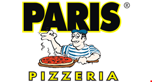 """Product image for Paris Pizzeria $10.99 16"""" large pizza with 1 topping."""