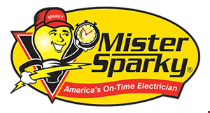 Product image for Mister Sparky $100 off portable generator outlet.