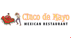 Product image for Cinco De Mayo Mexican Restaurant $5 off any curbside order