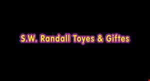 S. W. Randall Toyes & Giftes logo