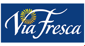 Product image for Via Fresca $2 off takeout order of $15 or more.