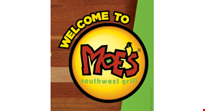 Product image for Moe's Southwest Grill - Knoxville $2 off PURCHASE OF $10 OR MORE