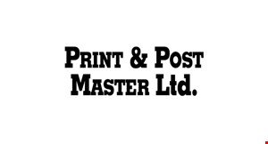 Print & Post Master Ltd. logo