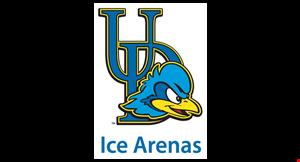 UNIVERSITY OF DELAWARE ICE ARENA, THE logo