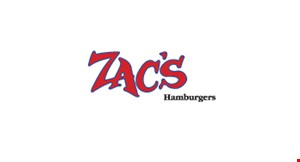Product image for Zac's Hamburgers Free hamburger or cheeseburger