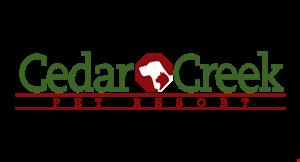 Cedar Creek Pet Resort logo