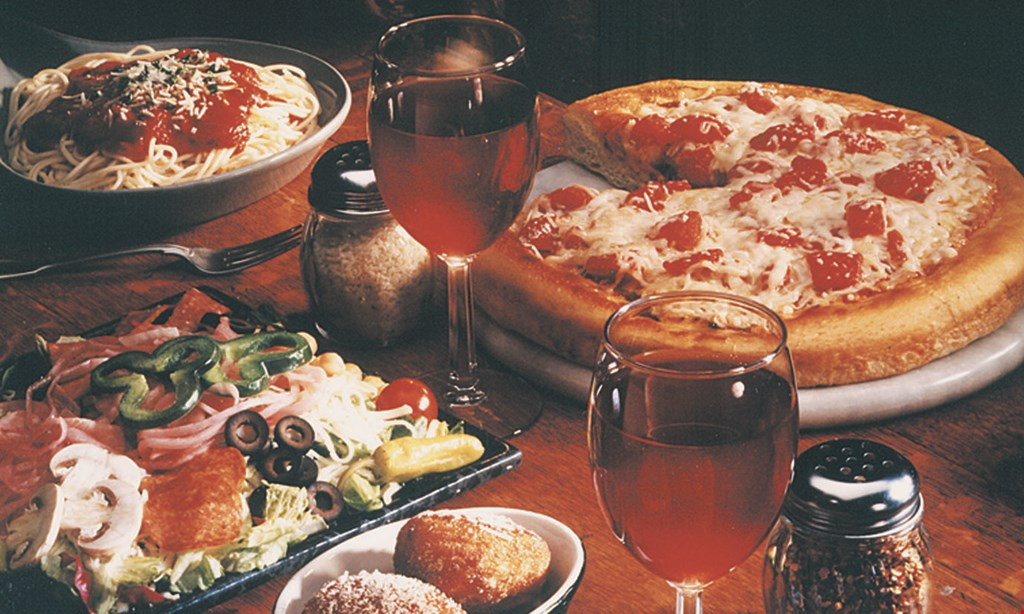 Product image for Numero Uno Family Pack $27.55. 1 lg cheese pizza, spaghetti marinara or meat sauce, 2ft garlic bread & 1 lg house salad. Feeds 4 or more.