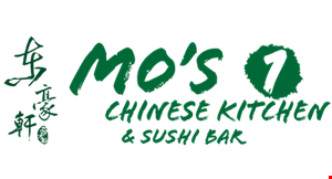 Product image for Mo's Chinese Kitchen & Sushi Bar 1/2 OFF sushi roll dine in or carry-out.