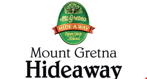 Mt. Gretna Hide-A-Way Cafe logo