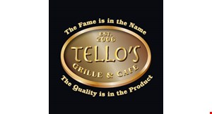 Product image for Tello's Grille & Cafe $10 off any purchase of $50 or more.