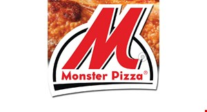 Product image for Monster Pizza Order online or by app and get 15% off regular priced items with coupon code OFF15.