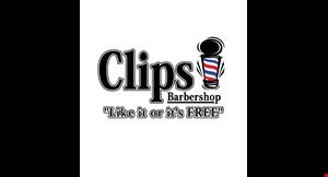 Clips Barbershop logo