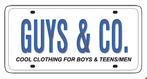 Product image for Guys & Co. get $25 in Guys & Co. cash