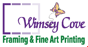Whimsey Cove Framing & Fine Art Printingv logo