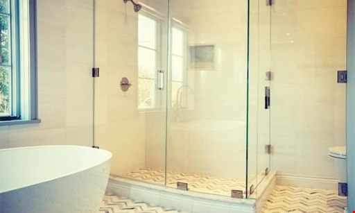 Product image for Clear Image Glass $150 Off Semi Frameless Shower Enclosures.