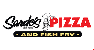 Product image for Sardo's Pizza And Fish Fry $5 Off any large pizza at regular price.
