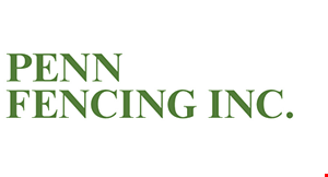 Product image for Penn Fencing Inc. $100 off Contract From $1500-$2500. $200 off Contract Over $2500. $300 off  Contract Over $3500. $400 off Contract Over $4500. $500 off Contract Over $5500