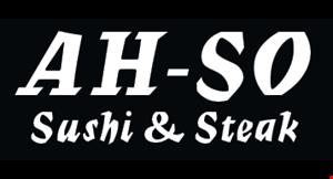 Ah So Sushi & Steak logo