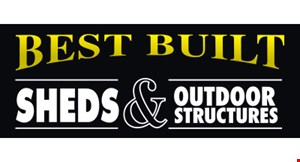 Product image for Best Built Sheds & Outdoor Structures $200 off any shed