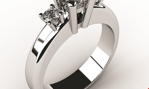 Product image for INTERNATIONAL DIAMOND JEWELERS Free men's white or yellow gold or tungsten carbide wedding band. 15 styles to choose from. Regular $299. With purchase of engagement ring at $599 or more.
