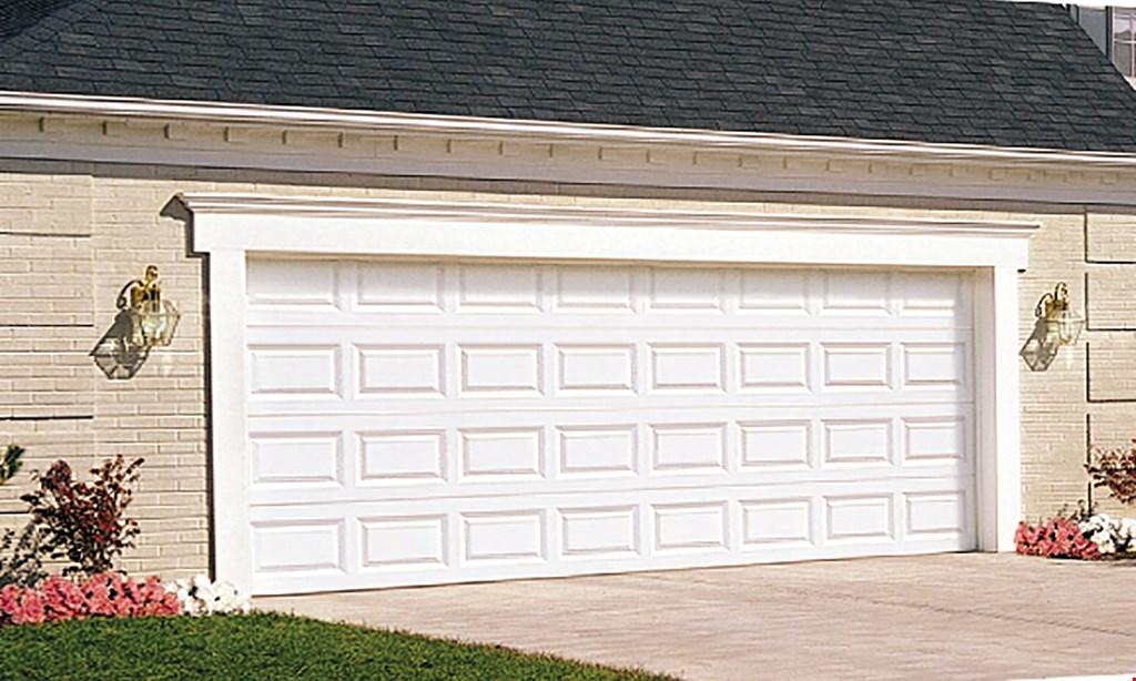 Product image for Garage Door Specialists $899 16' x 7' Steel Raised Panel Garage Door