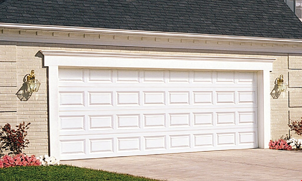 Product image for Garage Door Specialists Spring Sale $975 16' x 7' Steel Raised Panel Garage Door 25 Year Warranty. Includes Normal Installation, Removal And Haul Away Of Old Door.