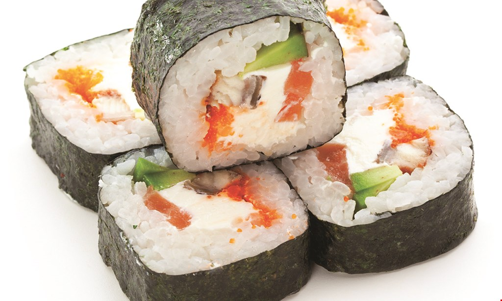 Product image for Domo Sushi $5 off any purchase of $40 or more. $10 off any purchase of $60 or more.