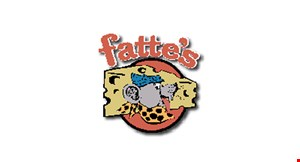 Product image for Fattes Pizza of Grover Beach $13.99 two small pizzas
