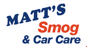 Product image for Matt's Smog & Car Care $10 off oil change & tire rotation