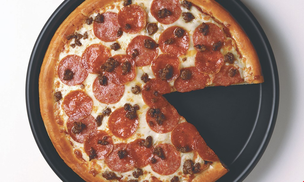 """Product image for SANPEGGIO'S PIZZA $14.99 for any 16"""" specialty or gourmet pizza"""