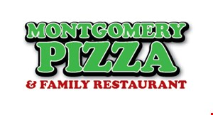 Product image for Montgomery Pizza & Restaurant $19.99 Two Large Pizzas. Toppings extra.