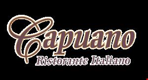 Product image for Capuano Ristorante Italiano 10% Off any check maximum value $15.
