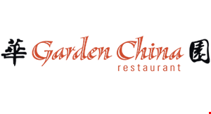 Product image for Garden China Restaurant 10% off eat in only