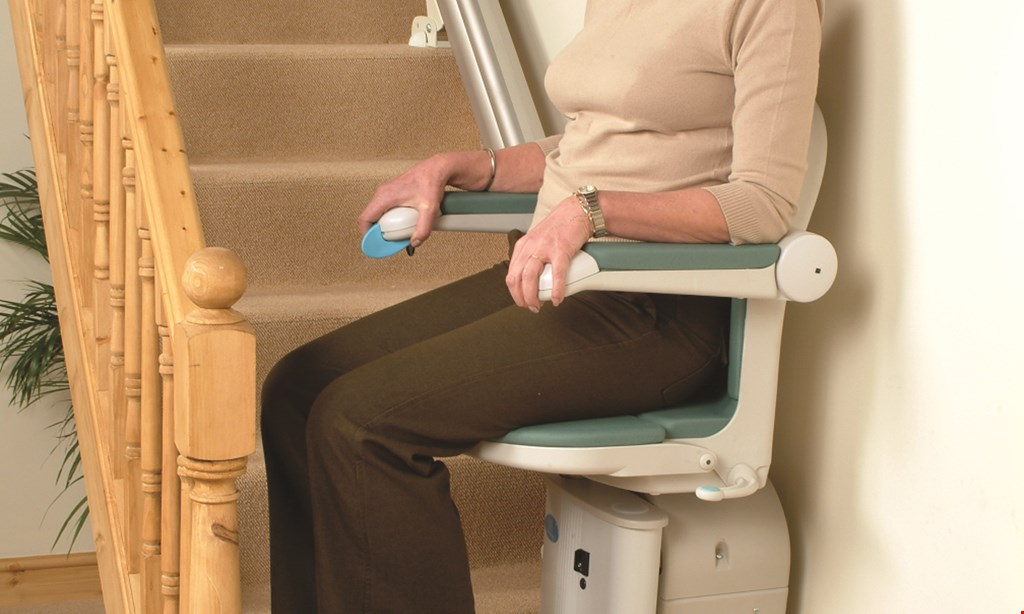 "Product image for Peak Stairlifts $2,800 INSTALLED Any Track Length ""Xclusive"" Straight Model Only."