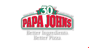 Product image for Papa Johns Pizza $27.99 Receive Two Large 2-Topping Pizzas, a Family Size Dessert plus a 2L Pepsi Product