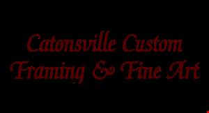 Catonsville Custom Framing & Fine Art logo
