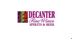 Product image for Decanter Fine Wines, Spirits & Beer 10% off wine or champagne purchase