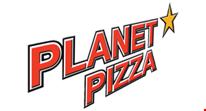 """Product image for Planet Pizza VALID AT SHELTON LOCATION ONLY $11 1 14"""" cheese pizza $20 2 14"""" cheese pizzas $27  3 14"""" cheese pizzas."""